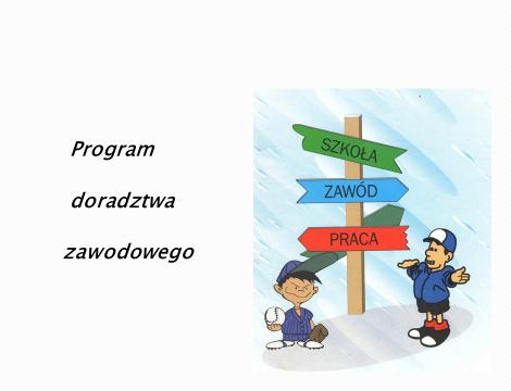 Wybór szkoły, zawodu, pracy - program doradztwa zawodowego