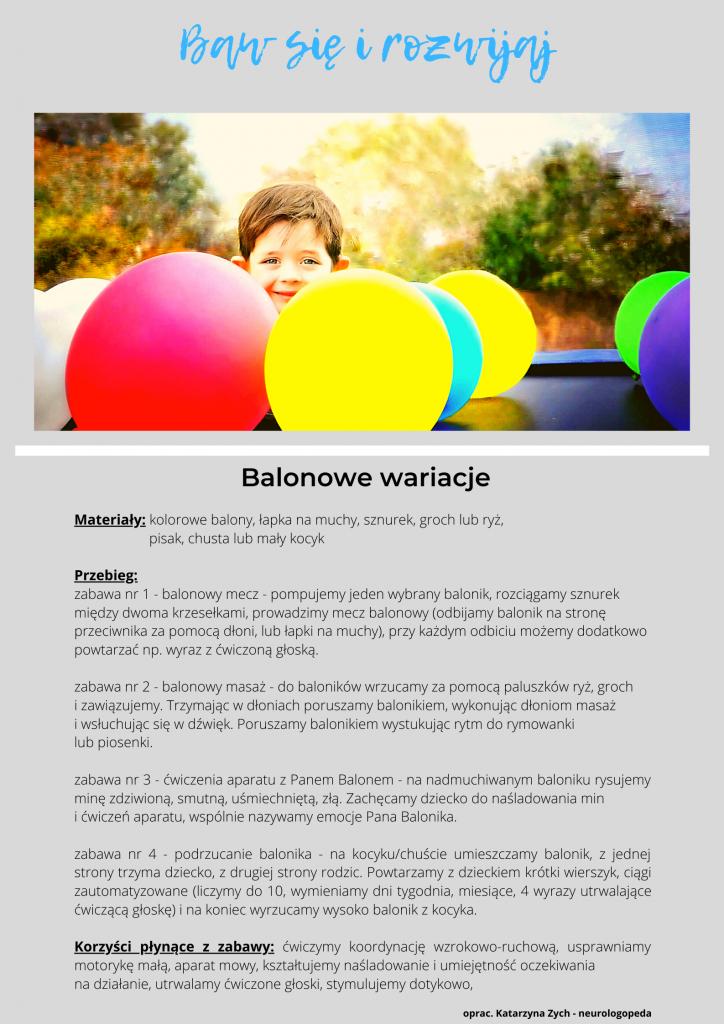 Baw się i rozwijaj - Balonowe wariacje